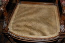 Louis XVI Caned Arm Chair