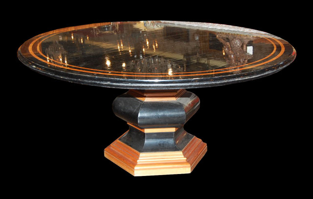Italian Lacquered & Inlaid Table