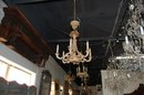 Italian Carved Wooden Chandelier