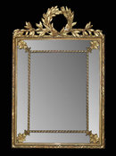 French Napoleon III Cushion Mirror