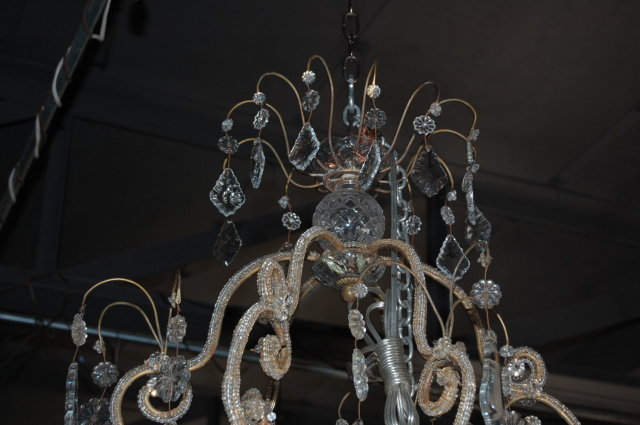 Elaborate Pair of Crystal Chandeliers