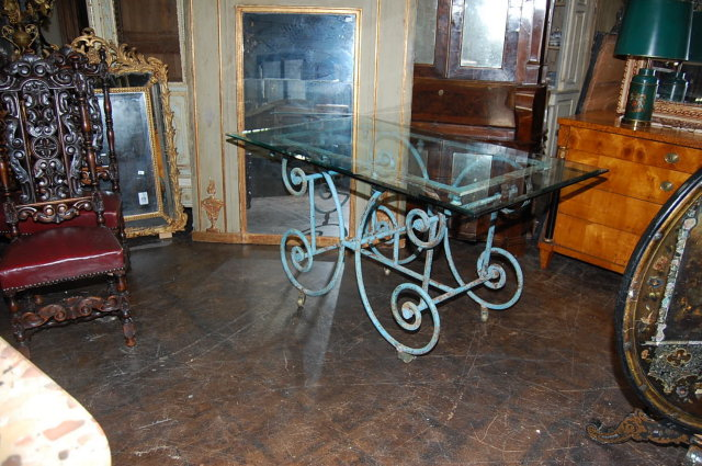 Outstanding French Iron Baker's Table