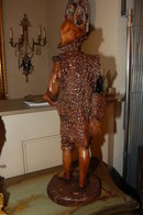 French Carved Wooden Figure
