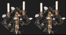 Pair of French Floral Sconce