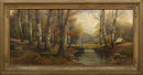 19th Century English Landscape Painting, B. Lambert