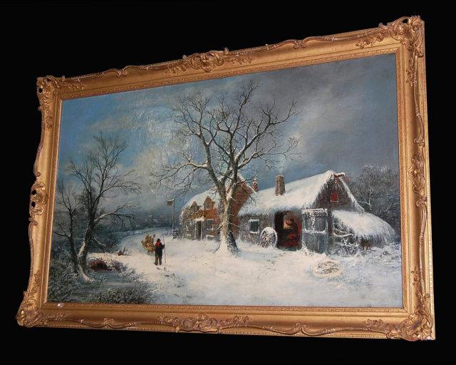19th Century English Oil On Canvas