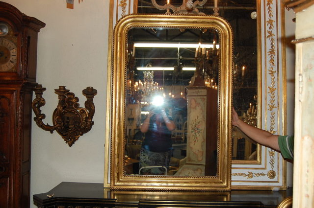 French Gilded Louis Philippe Mirror