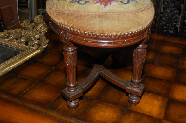 French Louis XVI Needlepoint Stool