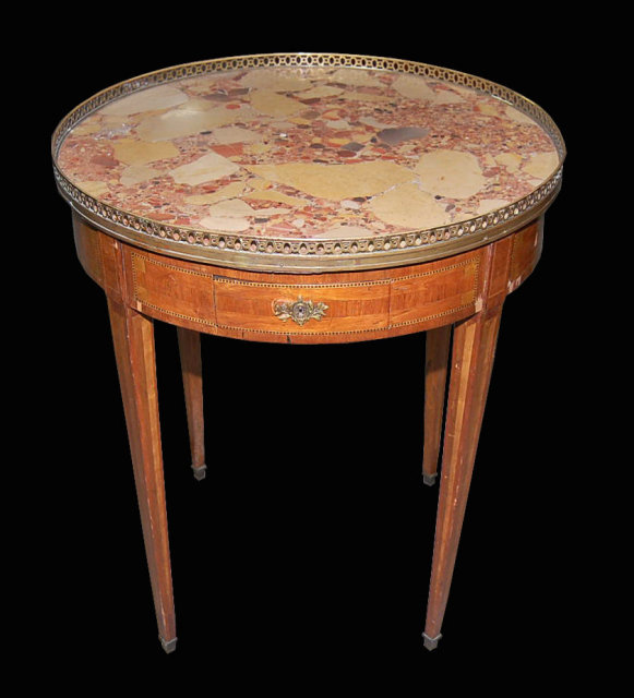 French Bouillotte Inlaid Table