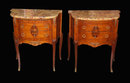 Pair French Inlaid Nightstands