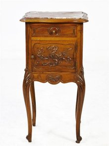 French Louis XV Walnut Stand