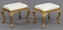 Pair Louis XV Style Gilt Wood Benches