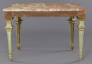 Louis XVI Style Polychrome & Giltwood Console