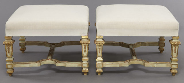 Pair Large French Louis XIV Style Benches
