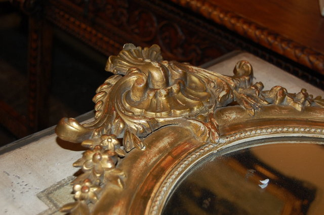 French Louis XVI Oval Mirror