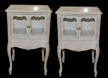 Pair Painted Cabinets
