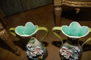 Pair French Barbotine Vases