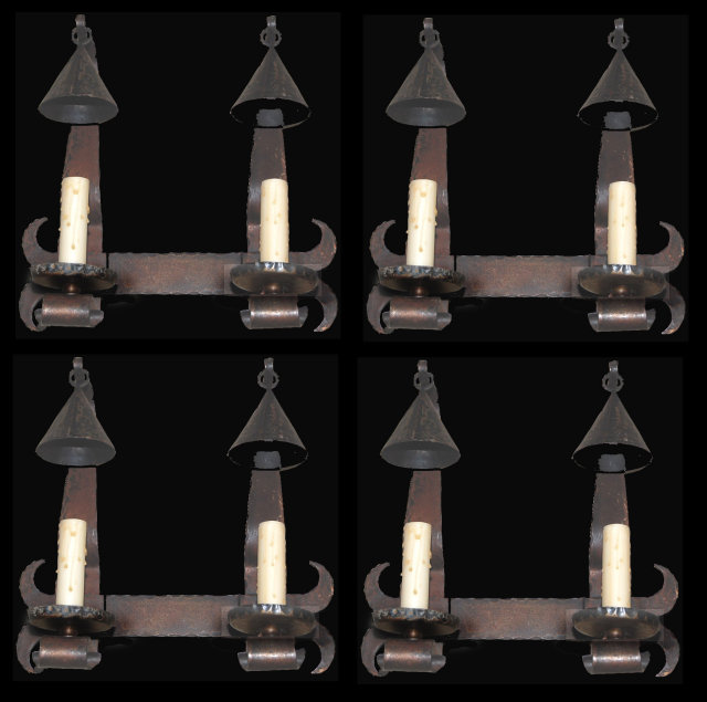 Whimsical French Iron Sconce
