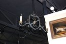 Whimsical French Iron Chandelier