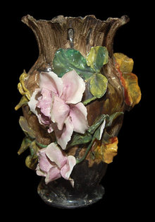 Barbotine Porcelain Vase