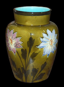 French Majolica Vase