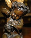 French Cherub Candelabra