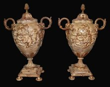 Pair French Terra Cotta Urns