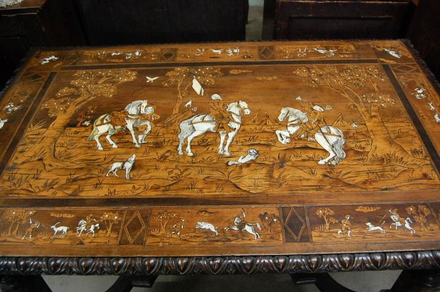18th Century Italian Hunting Table