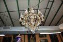 Large Pair Baccarat Crystal Chandeliers