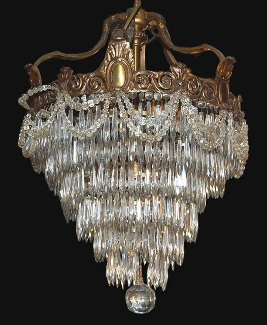 French Crystal Waterfall Chandelier