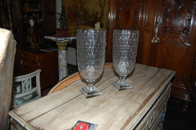 Pair of Crystal Vases