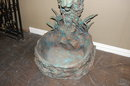 Patinated Bronze Lady Fountain