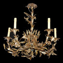 French Metal & Tole Chandelier