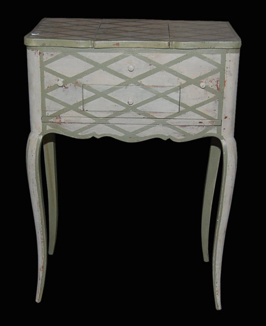 Petite French Painted Vanity