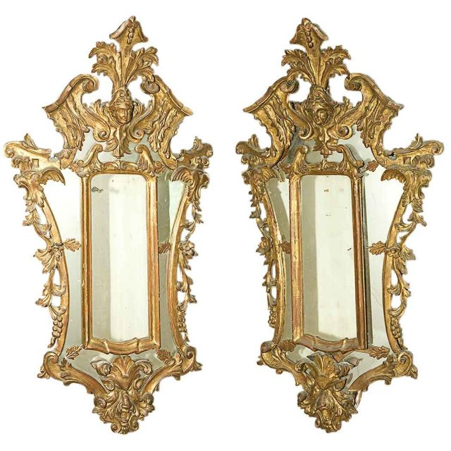 Pair 18th Century Italian Mirrors