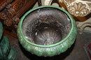 Pair Bronze Patinated Urns