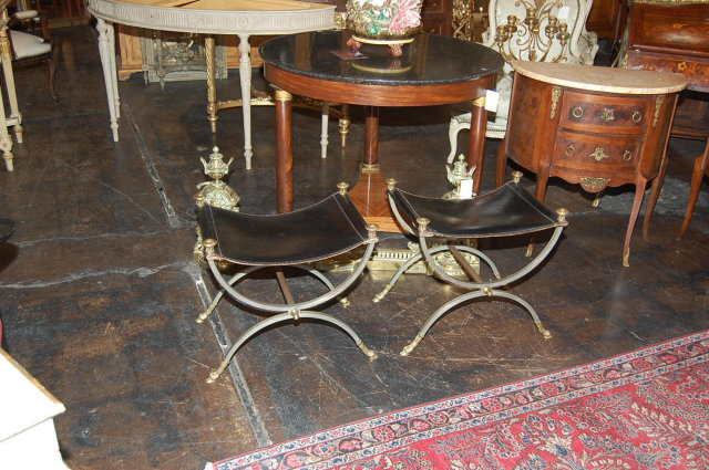 Pair of Tuscan Savonarola Benches