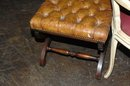 English Leather Tabouret Stool