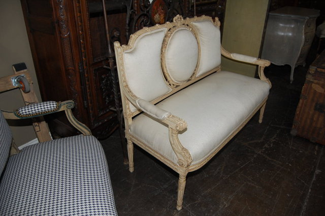 Painted French Louis XVI Settee
