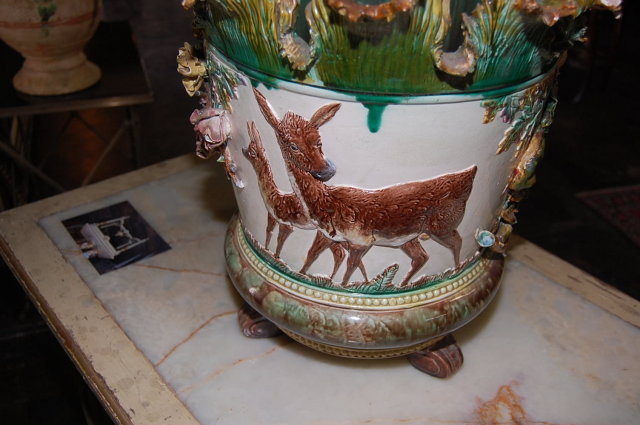 Exquisite French Majolica Planter