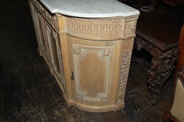 French Bleached Credenza