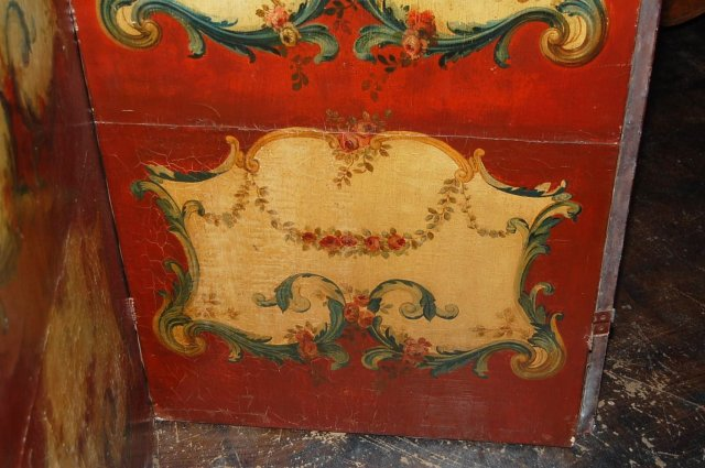 19th Century French Painted Screen