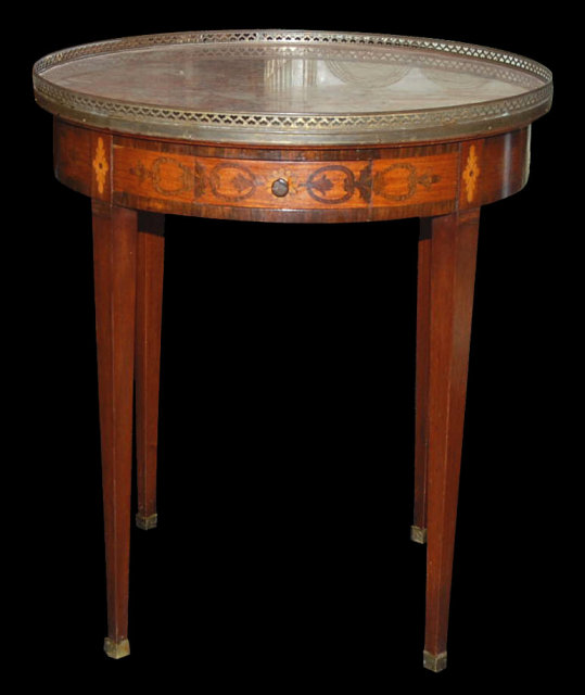 French Inlaid Bouillotte Table