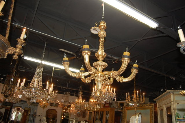 Continental Giltwood Chandelier