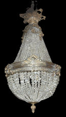 French Crystal Basket Chandelier