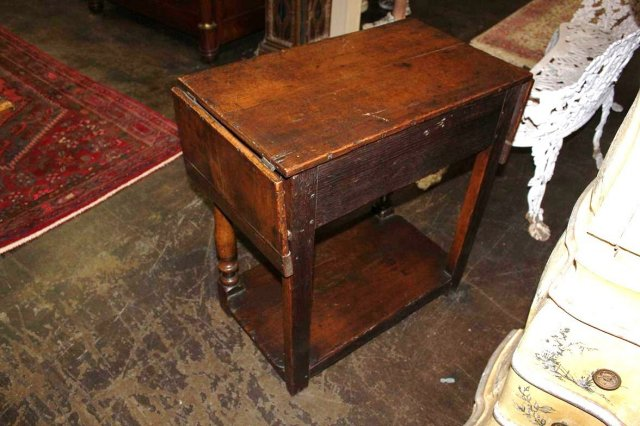 French Oak Drop Leaf Table