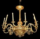 French Ornate Bronze Chandelier