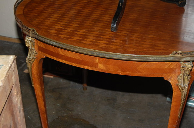French Parquetry Center Table