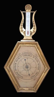 French Giltwood Barometer
