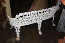 Painted Iron Garden Bench